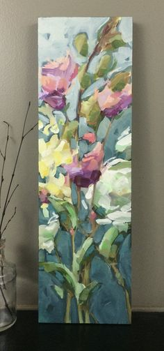 www.vansickleart.com Love this painting!  The colors, the movement and texture all sing to my soul. #OilPaintingLove #OilPaintingFlowers