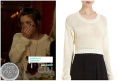 Shop Your Tv: 90210: Season 5 Episode 4 Silver's White Knit Sweater
