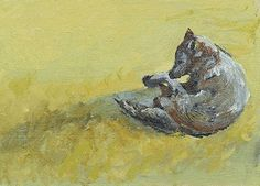 "Wildlife Art International: Colorado Wildlife Wolf Oil Painting ""Wolf Dozing by Colorado Artist Susan Fowler Oil Painting For Sale, Oil Painting On Canvas, Oil Paintings, Wolf, Daily Painters, Mountain Paintings, Wildlife Art, Western Art, Tree Art"