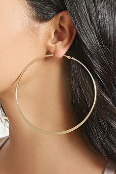 pendientes aro medianos tono dorado BOHO VINTAGE LOOP EARRINGS GOLDEN TONE