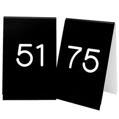 3.5W x 5H Number Tent Sign Set 51 to 75 White/Black  sc 1 st  Pinterest & 3.5W x 5H Number Tent Sign Set 26 to 50 White/Black Tags: Table ...