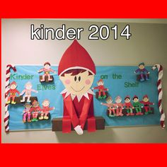 Elf on the shelf bulletin board... Students loved this! Made this bulletin this year for my class..