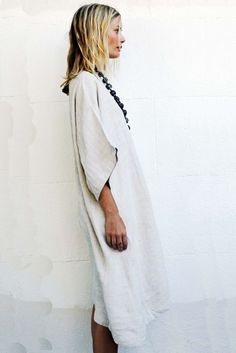 Not a crochet dress!  Made in Viet Nam pure linen tunic dress . . . I know because it is now mine!