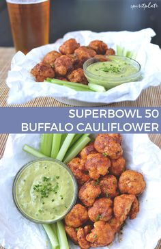 Crispy Buffalo Cauliflower | SPIRITPLATE #vegan #glutenfree #superbowl