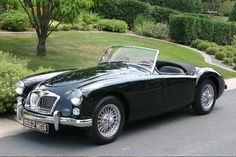 "1961-62 MGA 1600 Mark II Roadster. Last of the A-Series, the MK II had the ""B"" engine and was ridiculously fun to drive."