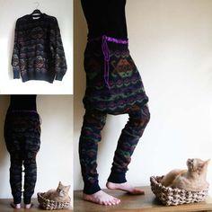 spodnie ze swetra