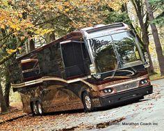 The world's first quad-slide Prevost H3-45 coach