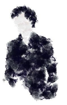 """Sherlock polypainting   ahsoka"" by fandom-girls ❤ liked on Polyvore featuring art"