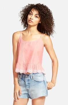 Frenchi® Eyelet Tank (Juniors) available at #Nordstrom