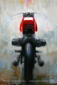 ever seen an expressionist painting portrait of a motorcycle? ; )  • painting by Scott Conary 2012 • www.oilandpiston.com