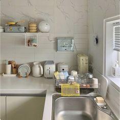 Home Decor Kitchen, Kitchen Interior, Kitchen Design, Kitchen Ideas, Bedroom Minimalist, Minimalist Home, Home Room Design, House Design, Aesthetic Room Decor