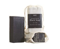 Black Soap with Charcoal & Dead Sea Mud
