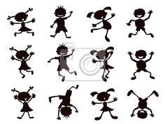 Vinilo para Paredes niños negros de dibujos animados - fiestas • PIXERS.es