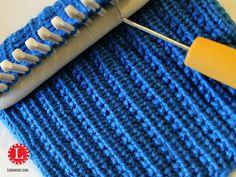 Machen Sie das Stricken einfach mit den Loom-Strickmustern Loom Knit Stitch Pattern The Farrow Rib Stitch with Video Tutorial Beginner Easy Loom Knitting Stitches, Spool Knitting, Knifty Knitter, Loom Knitting Projects, Knitting Videos, Loom Knitting For Beginners, Knitting Tutorials, Knitting Needles, Free Knitting