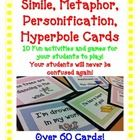 FIGURATIVE LANGUAGE Simile Metaphor Hyperbole Personification GAMES .