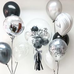 68 super ideas for birthday decorations ideas simple Anniversary Party Decorations, Dinner Party Decorations, Birthday Balloon Decorations, Anniversary Parties, Birthday Balloons, Decoration Party, 20th Anniversary, Happy Birthday For Him, 60th Birthday Invitations