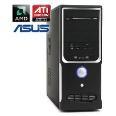 """Quiet PC - CSL Sprint 5231 (dual) - Office Dual Core! PC system with an AMD Athlon II X2 250 2x 3000 MHz, 500GB SATA, 4096MB DDR3, ASUS motherboard, Radeon HD 3000, DVD-RW, card reader, 7.1 audio, LAN Best Offers """"Cheap Computer"""