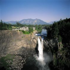 Snoqualmie Falls & Salish Lodge! Only 1 hour away. Fabulous Food - you can go just for food, day use of the spa and treatments, or overnight for a relaxing time. I'm very fond of their smoked salmon chowder.