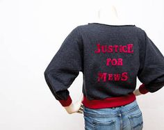 Organic Stranger Things inspired Sweater - Justice for Mews - Bio Baumwolle - GOTS Stoffe
