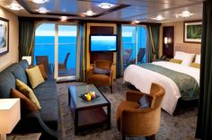We've been on a few cruises, but never had a cabin like this one! I wouldn't mind enjoying all the extra space. We loved Royal Carribean!