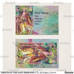 #TAROTS OF THE LOST SHADOWS   THE FOOL BUSINESS CARD  #tarot #magic #art #psychicreader #psychics #cartomante #astrology #fool
