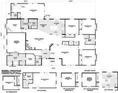 Floor Plan PH 40764B | Pinehurst Triplewides | Homes By Cavco West | Cavco |