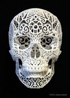 Skull Sculpture Crania Anatomica Filigre small by shhark on Etsy. Thinking anniversary present...