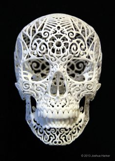 Looks like a Day of the Dead Sugar Skull