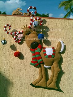 This domain may be for sale! Christmas Crafts, Christmas Ornaments, Reindeer, Christmas Stockings, Projects To Try, Holiday Decor, Fun, Iron Maiden, Xmas Ideas