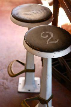vintage ice cream parlor stools refurbished