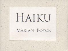 "#Share #free #Book of the Week: ""Haiku"" by Marian Poyck"