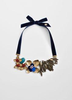 Ожерелье с цветами | MANGO МАНГО