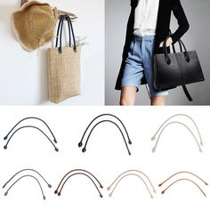 8.58AUD - 2X Ear Shape Real Leather Bag Handle Purse Strap For Diy Repair  Replacement e8e49c83b12c7