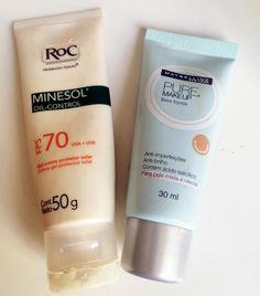 Dicas para peles oleosos Rayane  - protetor base e hidratante