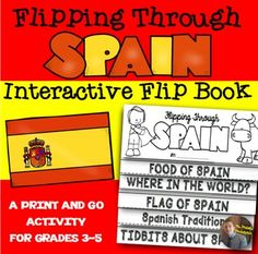 Third grade students are learning about countries around the World. This fun, engaging, and interactive activity asks students to create an EASY flip book as they learn about the country of Spain. We are making this flip book over the course of the time we learn about Spain.