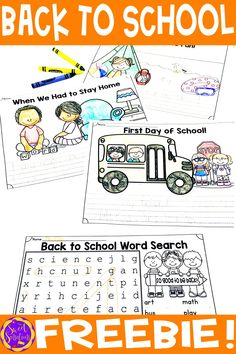 Back to school writing freebie for first grade! Welcome your students back to school after the Covid lockdown with these four free writing prompt worksheets - the perfect way to get students reflecting on learning from home, how it feels to be back, and recalling their summer time activities. Back To School Crafts, Back To School Activities, Time Activities, Teaching Activities, Teaching Ideas, Beginning Of School, First Day Of School, Temporal Words, Summer Time