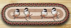 27in. x 8.25in. Chickadee Oval Braided Stair Tread Rug