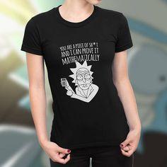 Tee Rick Morty Shirt Gotta Get Schwifty Graphic Womens Top,Charcoal,Medium