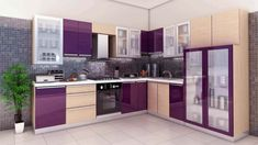 L-Shaped Simple Kitchen Design for small house. Source- thearjunreader