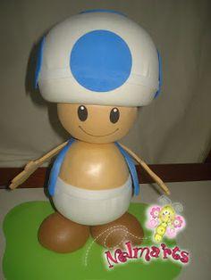 Foam Crafts, Arts And Crafts, Diy Crafts, Craft Dough Recipe, Mario E Luigi, Mario Party, Mario Brothers, Super Mario Bros, Clay Projects