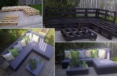 #DIY Pallet Patio Furniture