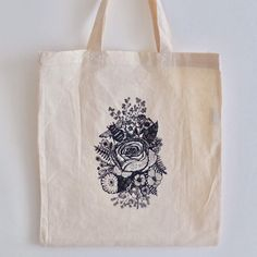 """Thanks for the kind words! ★★★★★ """"Awesome tote, thank you for sending along another one :) Incredibly beautiful. Im keeping an eye out for more in the future :)"""" Miliness http://etsy.me/2DDyXay #etsy #bagsandpurses #craft #vintage #screenprinting"""