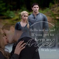 "Aww;) Emmett and Rosalie ""Hell's not so bad if you get to keep an angel with you."""