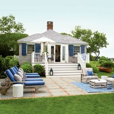 Cottage Backyard Deck: After