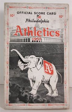 1937 Philadelphia Athletics Baseball Program