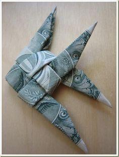 money origami fish