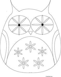 Six different owl outlines plus a squirrel. Lots of other images and ideas. Click the flag at the top for an Englsh version. Coloriages d'automne et de halloween, pluie et parapluies, chouettes, écureuil