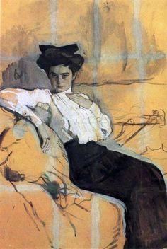 Valentin Serov - Portrait of Henrietta Girshman - 1906
