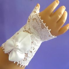 Fingerless Doll Gloves and Purse - First Communion, Confirmation, Baptismal - Fits 18 Inch Soft-Bodied Dolls - On Sophia's® Doll - 11400 by JessicasDollCloset on Etsy