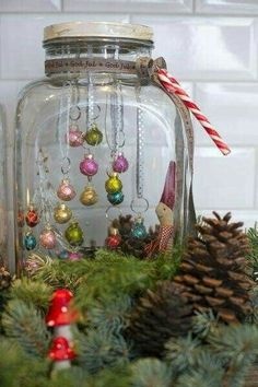 A way for me to have xmas decorations that Monty cant break! A way for me to have xmas decorations that Monty cant break! A way for me to have xmas decorations that Monty cant break! A way for me to have xmas decorations that Monty cant break! Noel Christmas, Diy Christmas Ornaments, Rustic Christmas, All Things Christmas, Winter Christmas, Christmas Bulbs, Ornament Crafts, Christmas Displays, Hanging Ornaments
